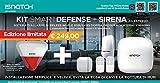 iSnatch Kit Smart Defense + Sirena da esterno-Sistema d'allarme wireless WIFI e GSM/GPRS doppia frequenza 433MHz e 868MHz