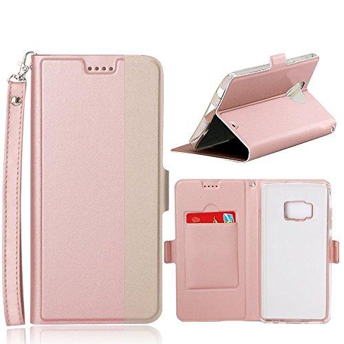 AVIDET iPhone 8 Plus Hülle - Hochwertiges PU Leder Etui Tasche für iPhone 8 Plus (Rose) Rose