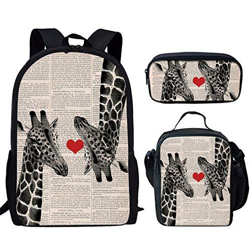 fhdc Rucksäcke Mode Kinder Schultaschen Lustige Selfie Giraffe Muster Schulrucksäcke Für Mädchen Jungen Orthopädische SchultaschenHm690Cgk
