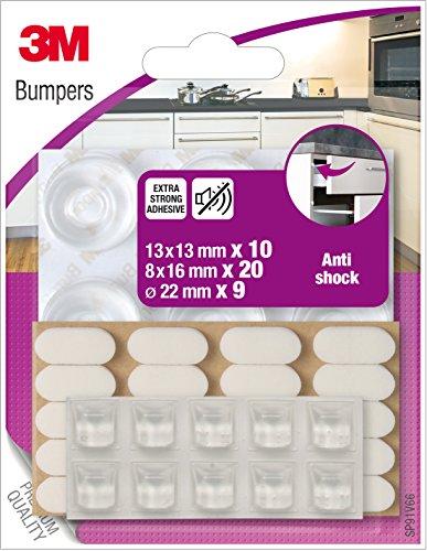 3m-sp91v66-assortiment-de-butees-amortisseurs-anti-choc-39-pieces-transparent-blanc