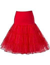 BOOLAVARD Women 50s Petticoat Skirts Tutu Crinoline Underskirt