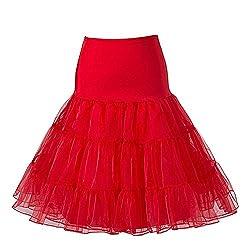 Boolavard 50's Petticoat Underskirt Retro Vintage Swing 1950's Rockabilly White, Black