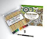 Libro de colorear para adultos con 120 páginas y Oferta Gratuita de Juego de 20 Lápices para colorear Premium, Sacapuntas de Metal y Extensor del lápiz por minitbuy - El regalo perfecto para presentar a alguien que te gusta