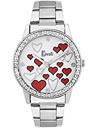 Cavalli Valentine Love Red Dial Analog Watch- For women