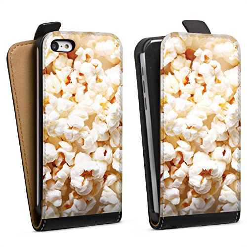 DeinDesign Tasche kompatibel mit Apple iPhone 5c Flip Case Hülle Kino Popcorn Poppin Corn - Case-kino Iphone 5c