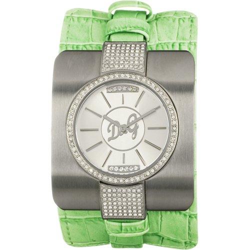 Dolce & Gabbana tting Bull DW0162 - Reloj de mujer de cuarzo, correa de piel color verde