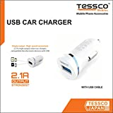 Tessco 2.1A USB Car Charger (DC-252) for Apple iPhone 5/5S, Apple iPhone 6, Apple iPhone 6 Plus, Apple iPhone 6S, Apple iPhone 6S Plus, Apple iPhone 7