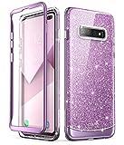 i-Blason Hülle für Samsung Galaxy S10+ Plus Handyhülle Glitzer Case Bumper Robust Schutzhülle Glänzend Cover [Cosmo] OHNE Displayschutz 2019 Ausgabe (Lila)