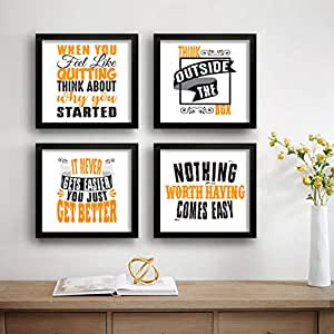 SAF Motivational Set of 4 UV Textured Painting (19 x 19 Inches, SAF_SET4_21)