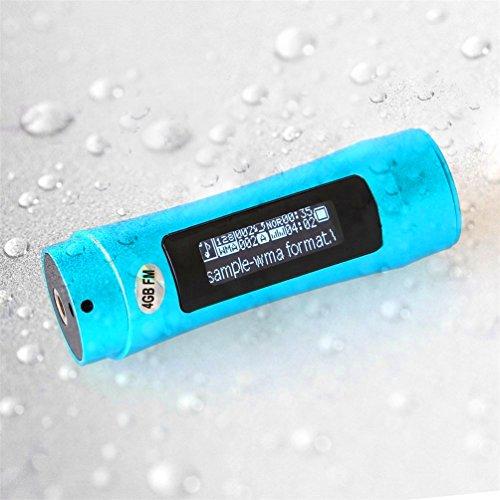 SmartEra 4GB Unterwasser-MP3-Player+ FM Radio, mit LCD-Bildschirm, zum Schwimmen, Spa, Surfen, Joggen, Klettern und andere Sportarten, wasserfest, Blau