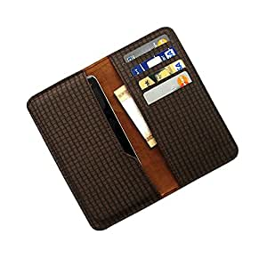 i-KitPit : PU Leather Wallet Flip Pouch Case For Lenovo A526 (BROWN)