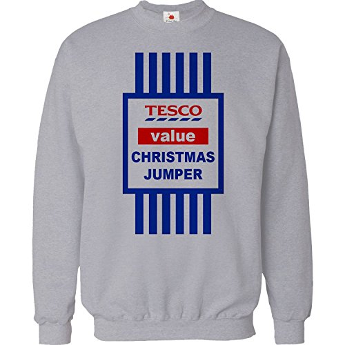 christmas-jumper-sweater-mens-funny-tops-tesco-value-sweat-shirt-xmas-gift-2015-unisex-top-large-gre