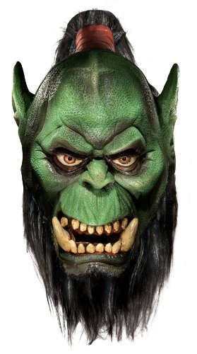 Deluxe Maske Orc mit Bart (Of Warcraft-masken World)