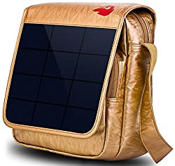 Solar Powered Hiking Daypacks with 6,5 Watt Solar Charger (Gold)