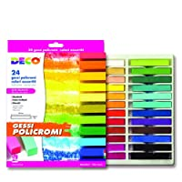 CWR My/MCP24 Anti-Dust School Chalk, 1 x 1 x 6.5 cm, Assorted, Square, Pack of 24