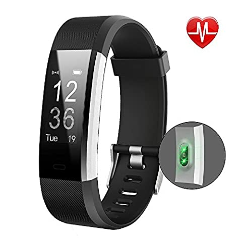 Fitness Tracker,YAMAY Activity Tracker Heart Rate Monitor Waterproof IP67 Smart Bracelet Fitness Wristband Watch Pedometer Smartwatch with Step Tracker/Calorie Counter/Sleep Tracker Call Notification Push for Walking/Running/Cycling Work with iPhone iOS and Android Phone