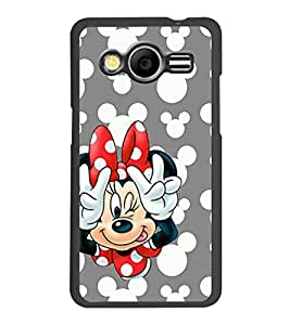 PrintDhaba Minnie Mouse D-1054 Back Case Cover for SAMSUNG GALAXY CORE 2 G355H (Multi-Coloured)