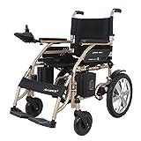 EMOGA Elektrischer Rollstuhl, Intelligente Automatische Elektrorollstuhl,Faltbar Tragbare, Frei-Reiten, Rollstuhl,Sitzbreite 45Cm