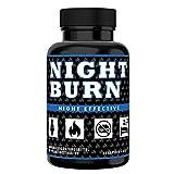 NIGHT BURN Fatburner für die Nacht, Abnehmen + Appetitzügler + Schlafsupport, für Diät