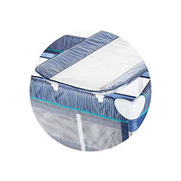 Chipolino travel cot Casablanca, changing mat, accessory bags, side entrance blue Chipolino Includes a soft luxurious changing mat Side entrance with zipper creates additional comfort for the child Practical side storage for diapers and other accessories 3