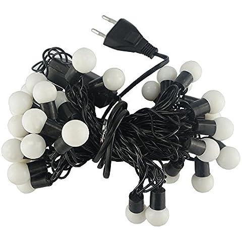 Lbcvh Halloween cadena Navidad luces LED para la decoración del hogar libre de agua linterna orbes de luz estroboscópica, Cordón blanco para el árbol de Navidad y el patio