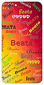 Beata (Blessed) Name & Sign Printed All over customize & Personalized!! Protective back cover for your Smart Phone : Vivo Xshot