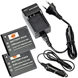DSTE 2-Pieza Repuesto Batería y DC52E Viaje Cargador kit para Kodak KLIC-7001EcomoYSHARE M1063M1073IS M320M340M341M753Zoom M763M853Zoom EcomoyShare M863 M893IS EcomoyShare V550V570V610V705