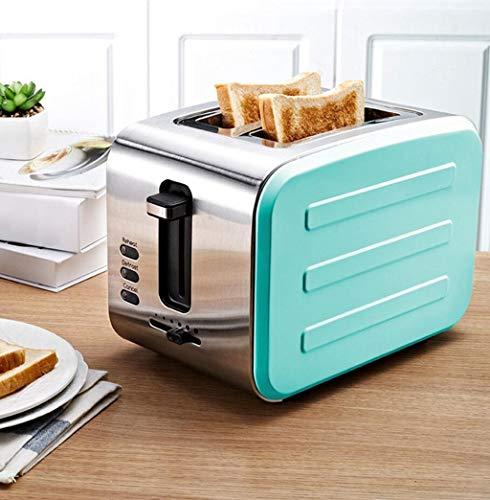 LJXWH Toaster Edelstahl Toaster Fahrer nach Hause Toaster 2 Stück Frühstück Maschine Brotmaschine (Farbe : Blau)