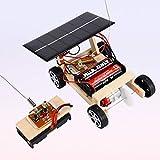 1pc DIY voiture télécommandée solaire DIY voiture de jouet en bois