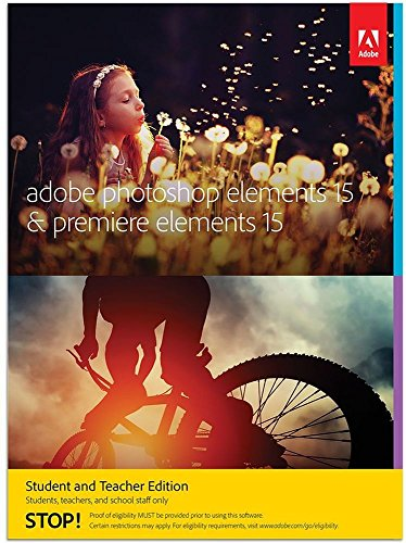 Adobe Photoshop Elements 15 & Premiere Elements 15 | Student/Teacher | PC/Mac | Disc