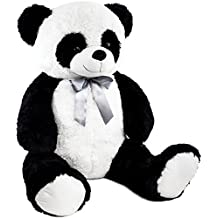 06e45c224c4039 BRUBAKER Peluche géante XXL - Panda Nounours avec Ruban ...