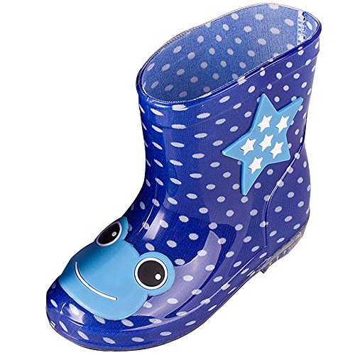 BOZEVON Child Waterproof Water Shoes Non-Slip Anti-Collision Animal Doodle Baby Rain Boots