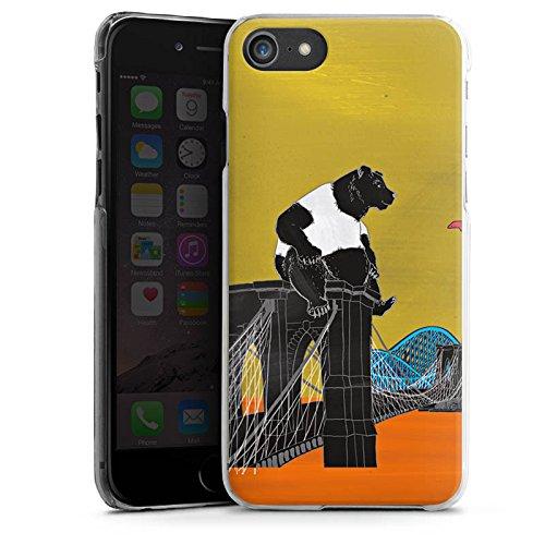 Apple iPhone X Silikon Hülle Case Schutzhülle Bär Panda Brücke Hard Case transparent