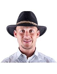 Almwerk Herren Tiroler Trachten Hut Filzhut Wanderhut in braun und grau