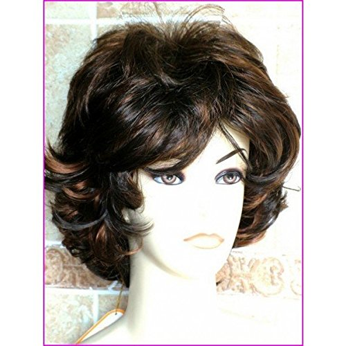 Forever Young Ladies Dark Auburn Mix Short Layered Wig by Forever Young -