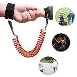 Aliyao Anti-enfant perdu avec laisse ehors bracelet impuissant Bébé apprentissage pour bébé à marcher corde anti-perte ceinture de sécurité Voyage doit aller(1,5 m et 2,5 m) (2.5 rotatif, Orange)