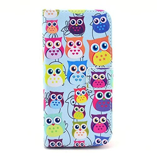 Monkey Cases® iPhone 6Plus 5,5pouces-Flip Case-Hiboux-Cover-Mat-Premium-Original-Neuf-Housse