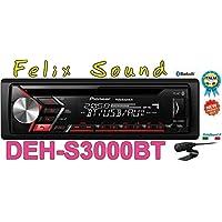 Pioneer DEH-S3000BT | 1DIN Autoradio | CD-Tuner mit RDS | Bluetooth | MP3 | USB und AUX-Eingang | Bluetooth Freisprecheinrichtung | ARC App | Karaoke Mic Mixing | Spotify