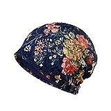 TININNA Gorro Sombrero Gorra en encaje flor lactancia cálido invierno tapa para altavoces mujeres, color azul, tamaño Paquete de 1