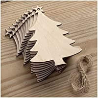 Lalang Rustic Wooden Bauble Hanging Decor Christmas Wedding Party Bunting Decoration