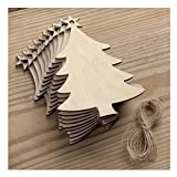 Lalang Rustic Wooden Bauble Hanging Decor Christmas Wedding Party Bunting Decoration (tree)