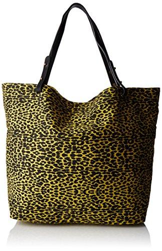 Petite Mendigote - Clea Leopard, Borse a tracolla Donna Giallo (Lime)