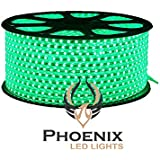 High Quality Waterproof LED Rope Light With Adapter For Decoration - 10 - Meters - Green Color (Phoenix Light)