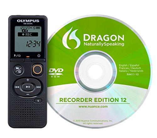 Olympus VN-541PC Aufnahmegerät (mit DNS12 Spracherkennungssoftware 4 GB Speicher, USB-Anschluss, inkl. Batterien)