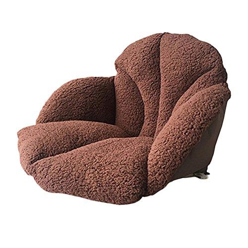 Foto de Tatami asiento de felpa cojín, grosor cintura apoyo silla almohada con lazos espalda ciática relieve para adulto y niño