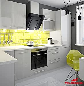 Cuisine Kitchenette 169032260cm gris/camel brillant