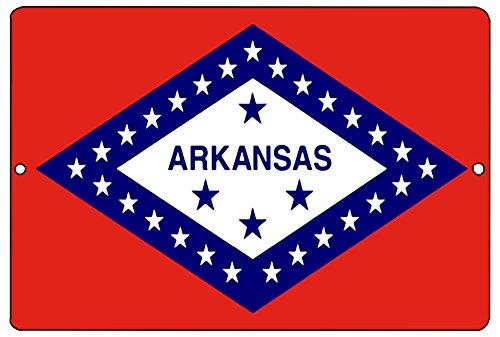 Rogue River Tactical Arkansas State Flagge Metall blechschild Wand Decor Man Cave Bar AR