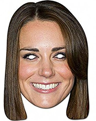 Confettery - Gesichtsmaske Kate Middleton , (Halloween Kate Middleton Kostüm)