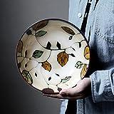 CivilWeaEU- Keramikgeschirr im Japanischen Stil/handbemalte Porzellanschüssel/Ramenschüssel/Suppenschüssel/Reisschüssel/Home Salatschüssel/Kreative Instant Nudelbecher/Obstschale
