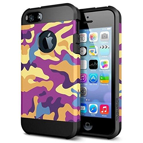 Phone case & Hülle Für iPhone 6 Plus / 6s Plus, Lila und Gelb Tarnmuster Tough Armor TPU + PC Kombi-Fall ( SKU : S-IP6P-3256C ) S-IP6P-3256A